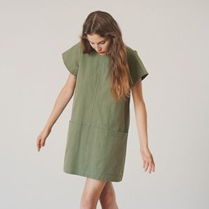 Fabiana Pigna Green Short Sleeve Shift Dress